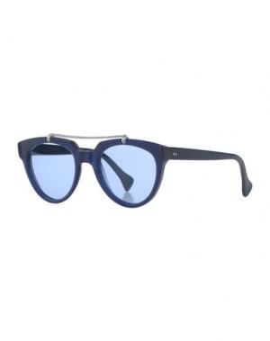 Солнечные очки SATURNINO EYE WEAR. Цвет: темно-синий