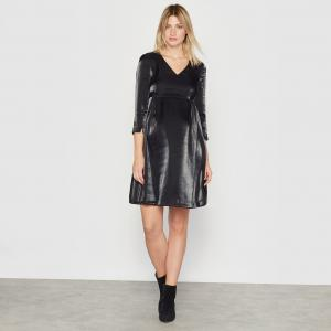 Платье для периода беременности R essentiel. Цвет: черный