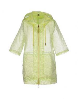 Легкое пальто JIJIL. Цвет: кислотно-зеленый