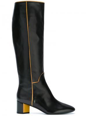 Сапоги на массивных каблуках Pierre Hardy. Цвет: коричневый