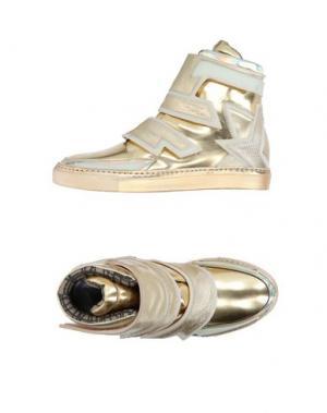 Высокие кеды и кроссовки ALBERTO PREMI. Цвет: золотистый