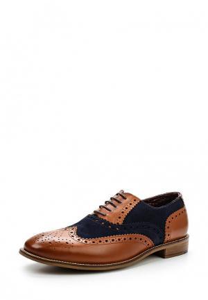 Туфли London Brogues. Цвет: коричневый