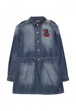 Платье джинсовое Jacob Lee. Цвет: синий