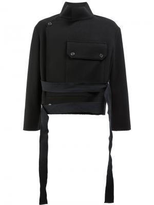 Укороченная куртка Ports 1961. Цвет: чёрный