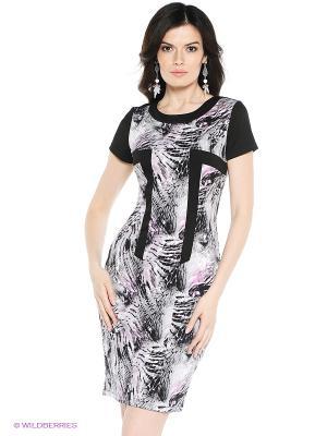 Платье VENUSITA. Цвет: черный, белый, лиловый