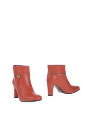 Полусапоги и высокие ботинки AVRIL GAU. Цвет: коралловый