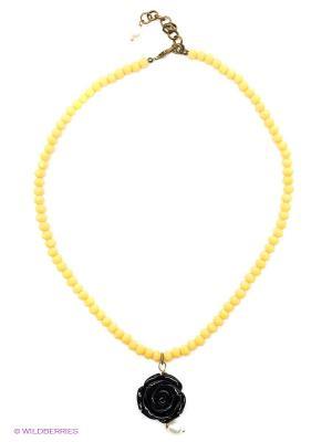 Ожерелье Polina Selezneva. Цвет: черный, белый, желтый