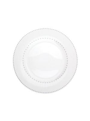 Набор тарелок обеденных 27 см ЛАЙН 6 шт Miolla. Цвет: белый