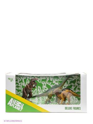 Набор  фигурок Динозавры 1 MOJO. Цвет: коричневый, рыжий, зеленый