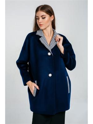 Пальто Exalta. Цвет: темно-синий, белый