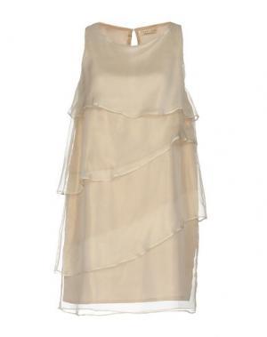 Короткое платье GIORGIA & JOHNS. Цвет: бежевый