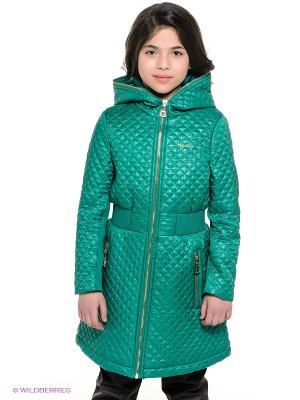 Пальто MES AMI. Цвет: зеленый