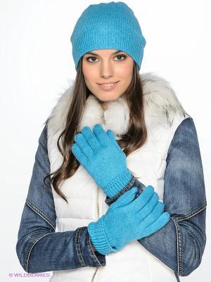 Перчатки CONVER. Цвет: голубой
