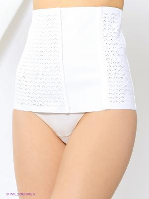 Пояс-корсет EUROMAMA. Цвет: белый
