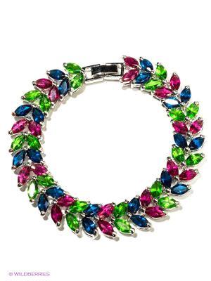 Браслет Happy Garnets. Цвет: серебристый, розовый, синий, зеленый