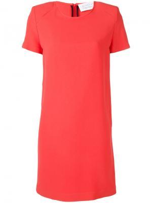 Платье с короткими рукавами Gianluca Capannolo. Цвет: розовый и фиолетовый
