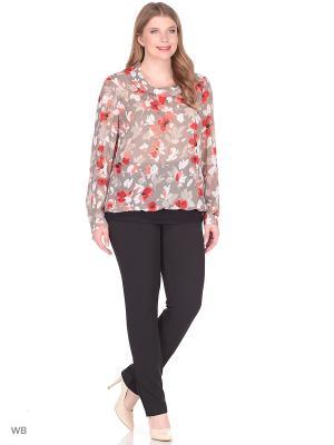 Блузка BERKLINE. Цвет: коричневый