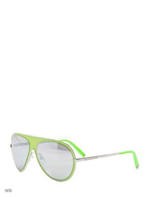 Солнцезащитные очки DQ 0104 95С Dsquared2. Цвет: салатовый, серебристый