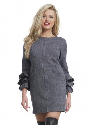 Платье Alex Lu. Цвет: серый