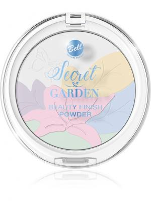 Пудра Многоцветная корректирующая декоративная Secret Garden Beauty Finish Powder Bell. Цвет: молочный