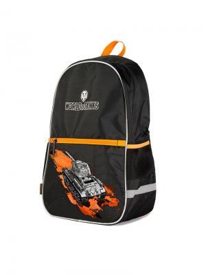 Рюкзак World Of Tanks, Черный для Мальчиков (WT-112016-1) MAXITOYS. Цвет: черный, оранжевый, серый