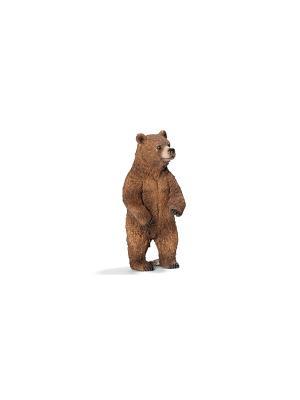 Медведь Гризли, самка SCHLEICH. Цвет: коричневый