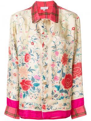 Блузка с цветочной вышивкой Pierre-Louis Mascia. Цвет: телесный