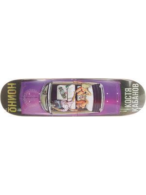 Профессиональный скейтборд Кабанов, размер 8,125x32, конкейв Medium Юнион скейтборды. Цвет: черный, темно-фиолетовый