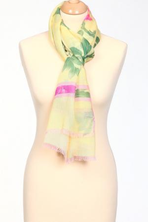 Палантин Leonard. Цвет: зеленый, розовый, лимонный