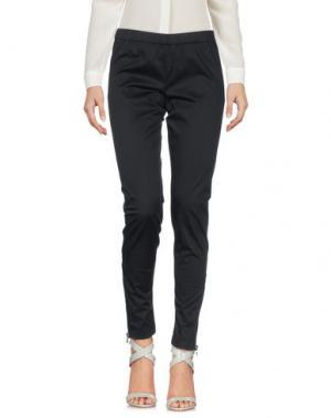 Повседневные брюки SILK AND SOIE. Цвет: черный