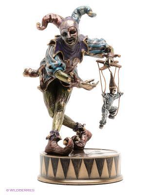 Статуэтка Шут-кукловод Veronese. Цвет: бронзовый, фиолетовый, синий