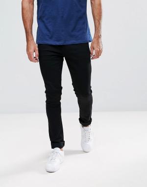 LDN DNM Черные джинсы скинни. Цвет: черный