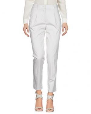 Повседневные брюки AGLINI. Цвет: светло-серый