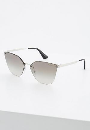 Очки солнцезащитные Prada. Цвет: серебряный