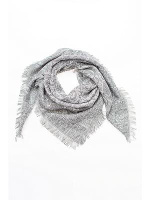 Платок Shapkoff. Цвет: серый, белый, серебристый