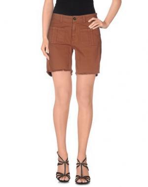Джинсовые брюки SWILDENS. Цвет: коричневый