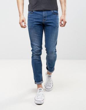 LDN DNM Зауженные джинсы цвета индиго. Цвет: синий