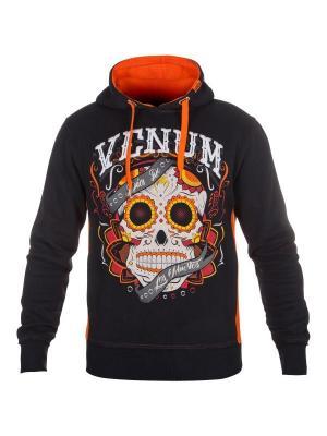 Толстовка Santa Muerte Black/Orange Venum. Цвет: черный