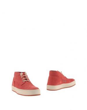 Полусапоги и высокие ботинки BARLEYCORN. Цвет: красный
