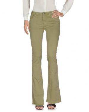 Повседневные брюки KONTATTO. Цвет: зеленый-милитари