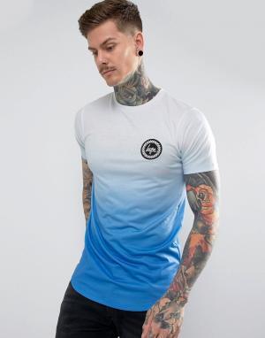 Hype Темно-синяя футболка с выцветшим эффектом. Цвет: темно-синий