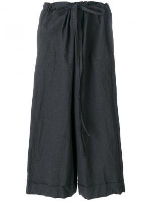 Широкие укороченные брюки Daniela Gregis. Цвет: серый