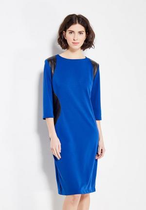 Платье Vivostyle. Цвет: синий