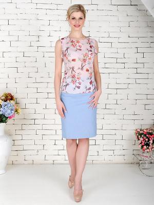Блуза KEY FASHION. Цвет: розовый