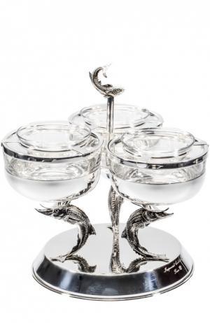 Икорница Triple Tsar. Цвет: серебряный