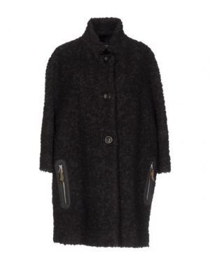 Пальто ROSSO35. Цвет: темно-коричневый