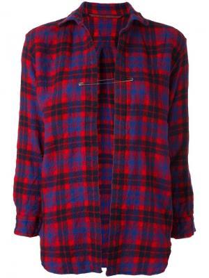 Рубашка с булавкой Daniela Gregis. Цвет: красный