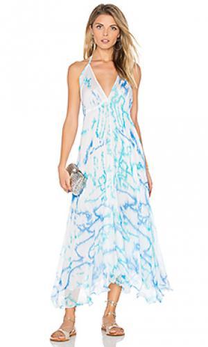 Макси платье parachute juliet dunn. Цвет: синий