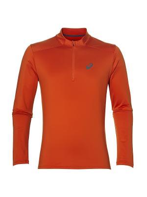 Лонгслив Ess Winter 1/2 Zip ASICS. Цвет: оранжевый, серый