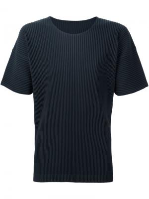 Плиссированная футболка Homme Plissé Issey Miyake. Цвет: зелёный